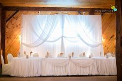 Backdrop, Head Table