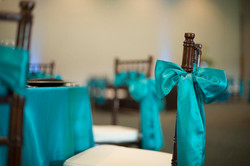 turquoise chair sashes