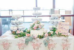 Lace Overlay cake table