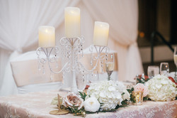 White Candelabra with Crystals