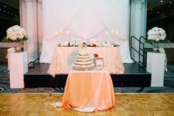 head table/backdrop