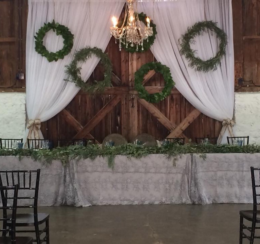 Balls Falls Barn Door Draping