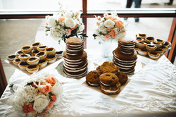 Dessert Table with White Matte Flora