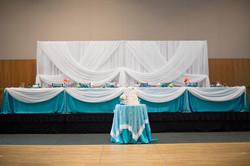 Backdrop, Head and Cake Table