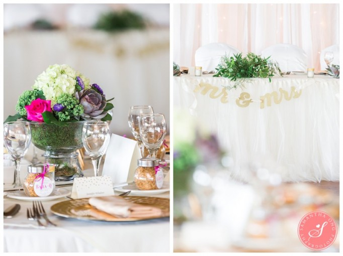 floral centerpiece, Head table