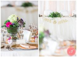floral centerpiece, Head table
