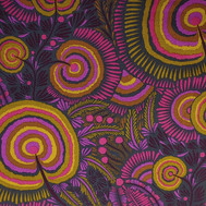 Psychedelic cherries 02 in olive, pink, etc
