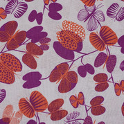 Purple and orange butterfly tree