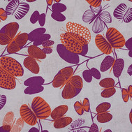 Purple and orange butterfly tree