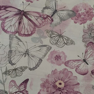 Light purple and grey butterflies and flowers