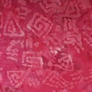 Pink batik triangles, rectangles, spirals