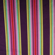 Wide stripes - dark purple yellow gold mint pink red