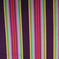 Wide stripes - dark purple yellow gold mint pink red
