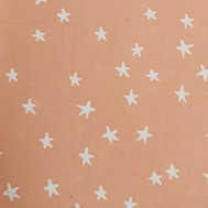 White stars on peach