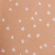 White stars on peach