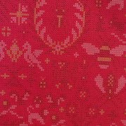 Hot pink cross stitch