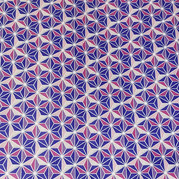 Faceted with purple, pink