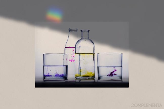 Bodegón agua y complementa
