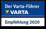 VARTA Empfehlung 2020