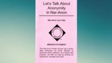 Let's Talk About Anonymity in Nar-Anon