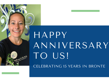 Happy Anniversary to Us - Celebrating 15 Years in Bronte