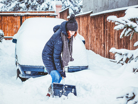 Tired of Hurting Your Back While You Shovel Snow?!