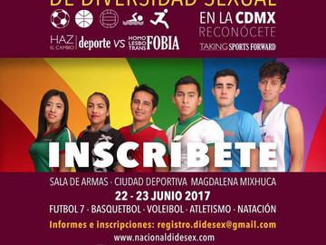 Encuentro Nacional de Deportistas LGBTTTI en la CDMX