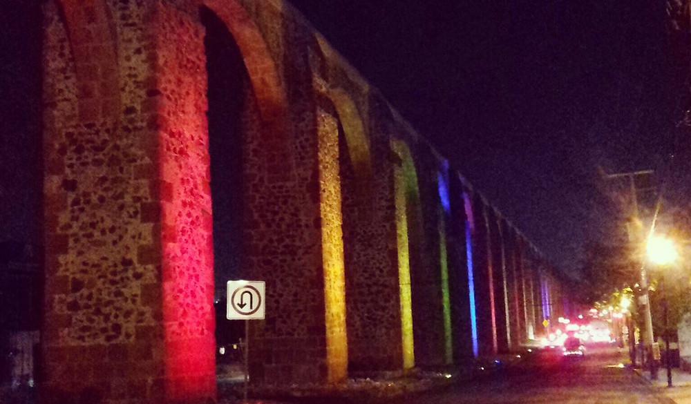 Arcos Queretaro Iluminados