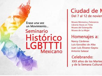 Todo listo para el X Seminario Histórico LGBTTTI Mexicano