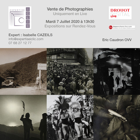 Vente de Photographies Mardi 7 juillet 2020