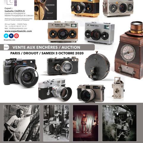 Vente Photographie & Matériel Photographique - Samedi 3 Octobre 2020 à 14h, Drouot Paris