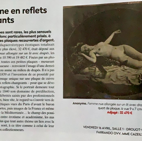 Article dans la Gazette Drouot (Avril-Mai 2021)
