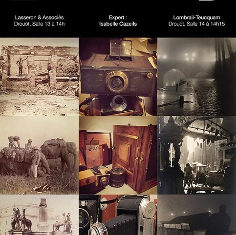 """Deux Ventes """"Photograhies"""" à Drouot Paris les 13 et 14 Novembre 2019"""