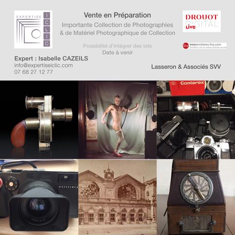 Importante Vente de Photographies et de Matériel Photographique de Collection à Venir