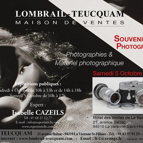 Vente Photographie et Matériel Photographique le Samedi 5 octobre 2019 à 14h