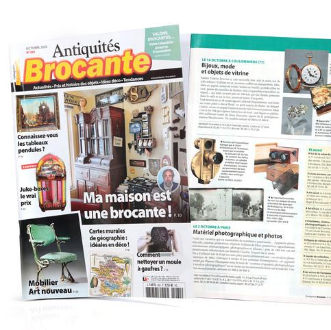 """Article dans le n°264 de """"Antiquités Brocante"""" Octobre 2020"""