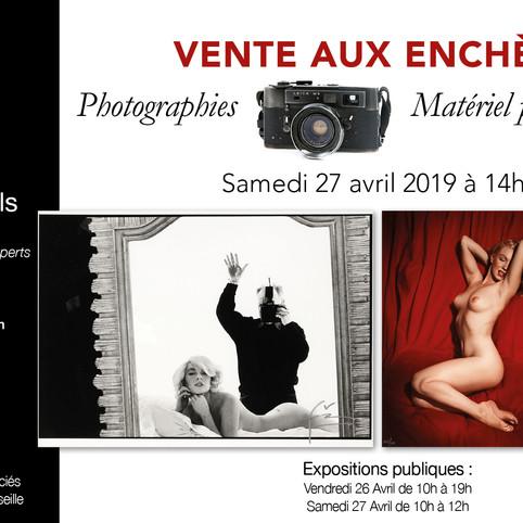 Vente de Photographies et Matériel Photographique. Photo & Camera Auction.
