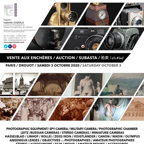 Next Photo & Camera Auction - Prochaine Vente de Photographie & de Matériel Photographique