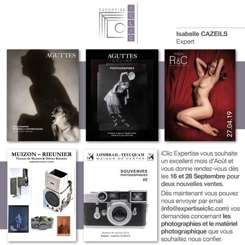 Rendez-vous pour deux nouvelles ventes aux enchères Photographies et Appareils Photographiques