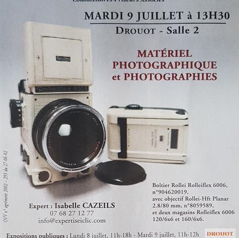 Vente Photographies et Matériel Photographique