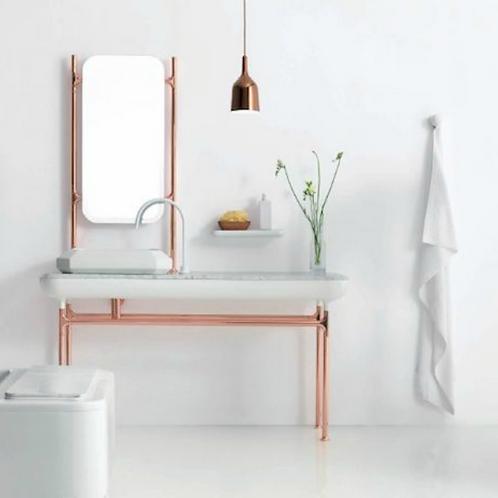 Copper Sink & Mirror Stands