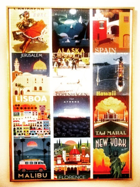 Airline Destinations Framed Picture