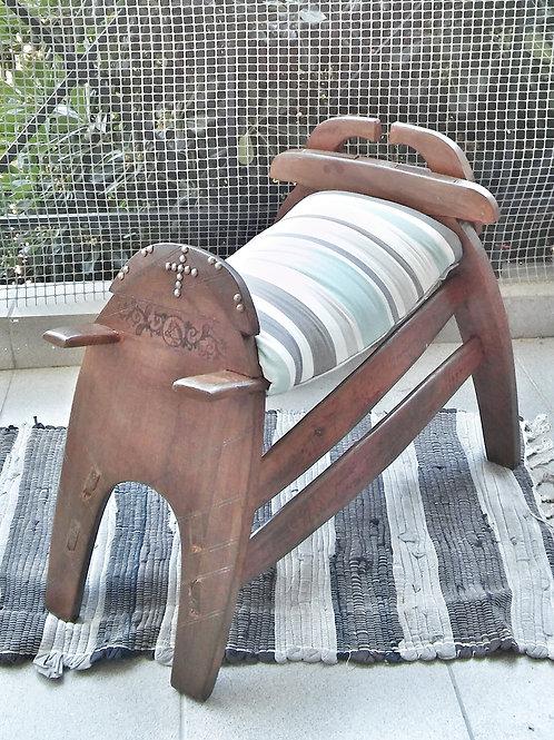 wooden saddle stool