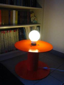 Old Spool Floor Lamp 255