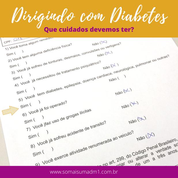 Dirigindo com diabetes