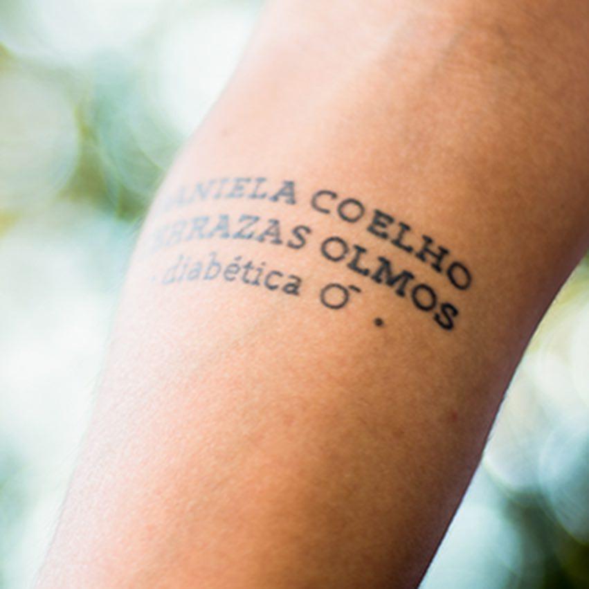 Tatuagem de identificação de diabetes