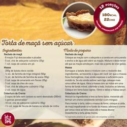 Torta de maçã sem açúcar