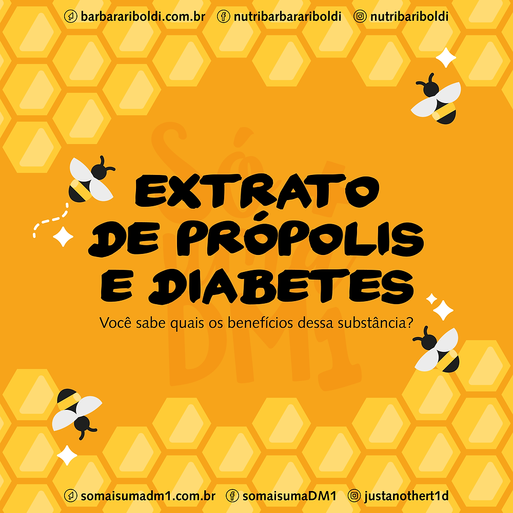 Extrato de própolis e diabetes - quais os benefícios?