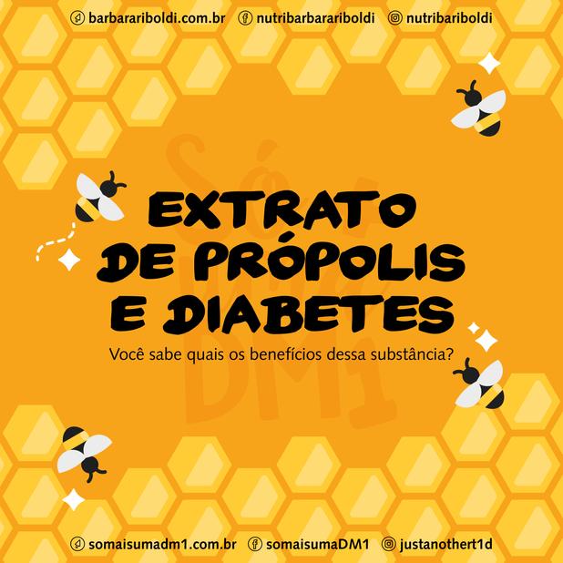 Extrato de própolis e Diabetes