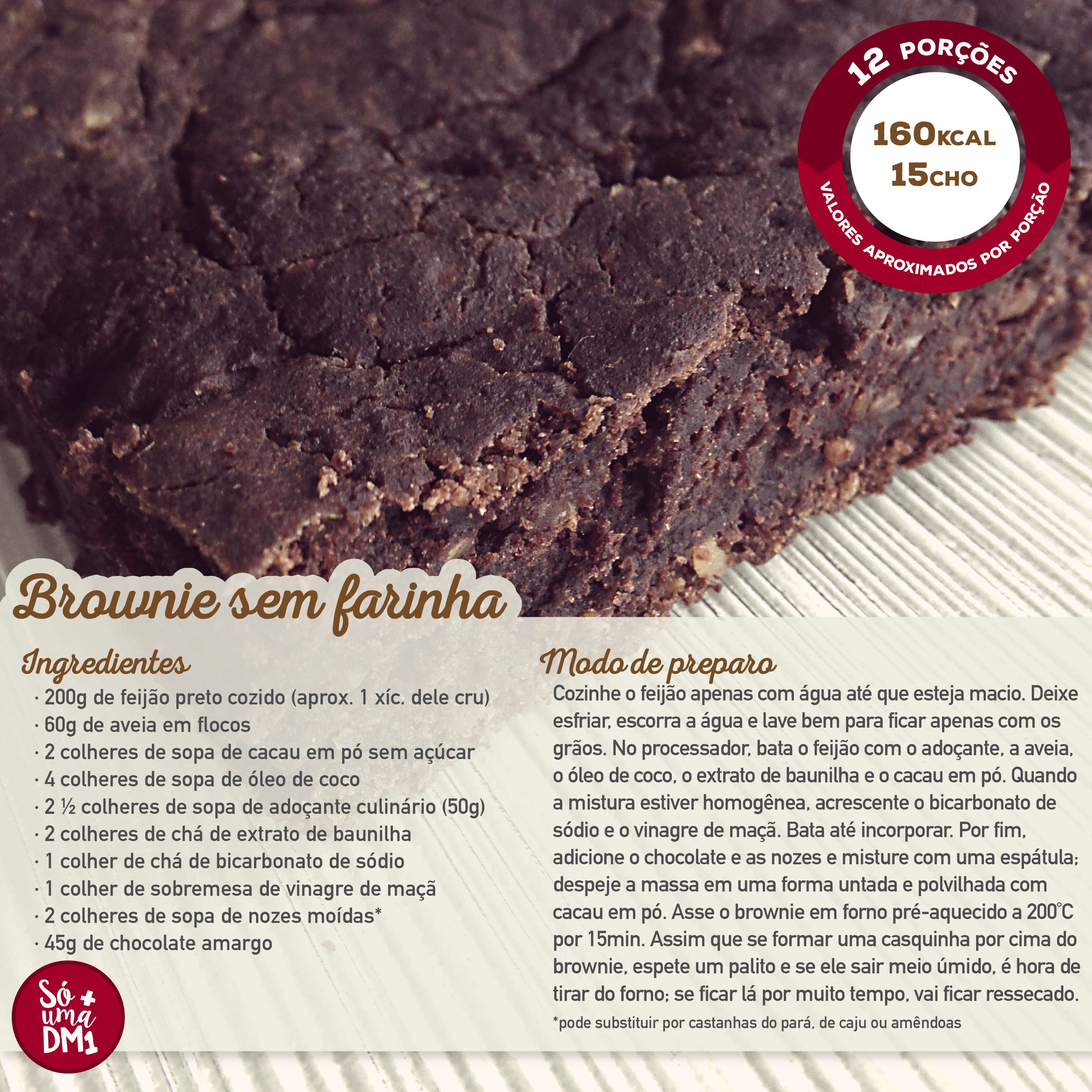 Brownie sem farinha